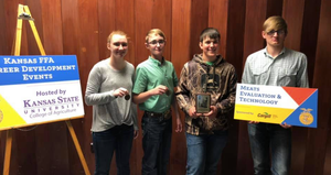 Uniontown FFA Meat Evaluation Team Named the Reserve State Champion Team!