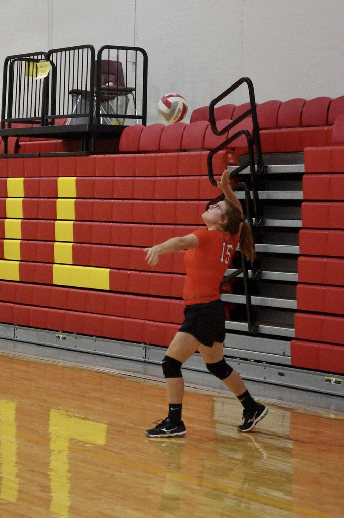 Kristy Beene with a serve
