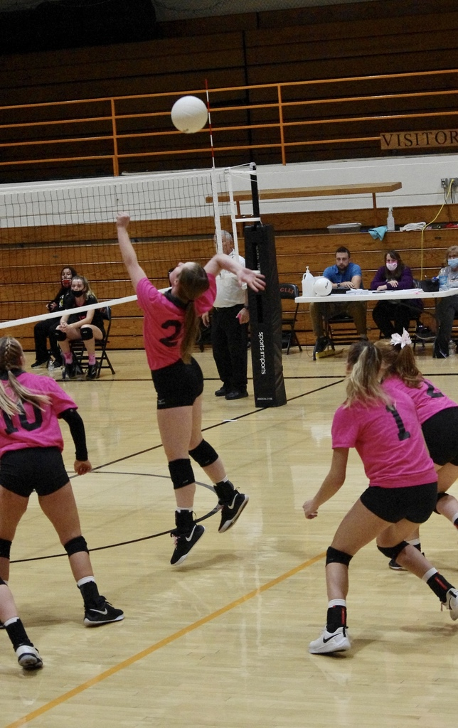 Karleigh Schoenberger going for a kill