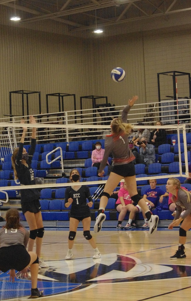 Danielle Howard with a kill against KCC