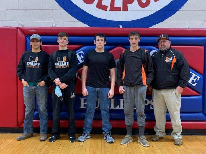 Uniontown Eagles Wrestling Team at Caney Valley High School Kan-Okla Wrestling Tournament