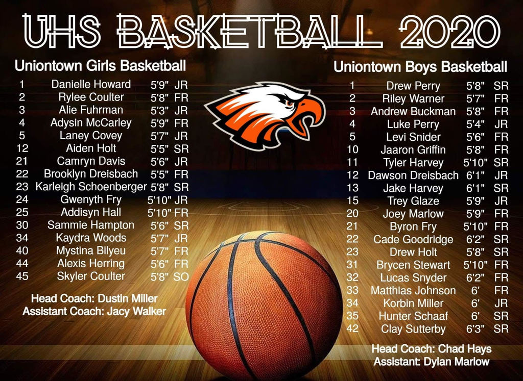 Uniontown 2020-21 High School Basketball Rosters