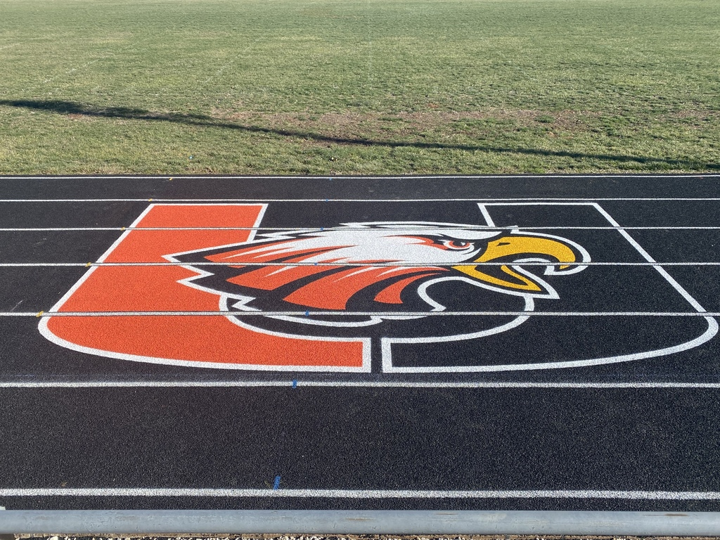 Uniontown Eagles Mascot Logo on the Track