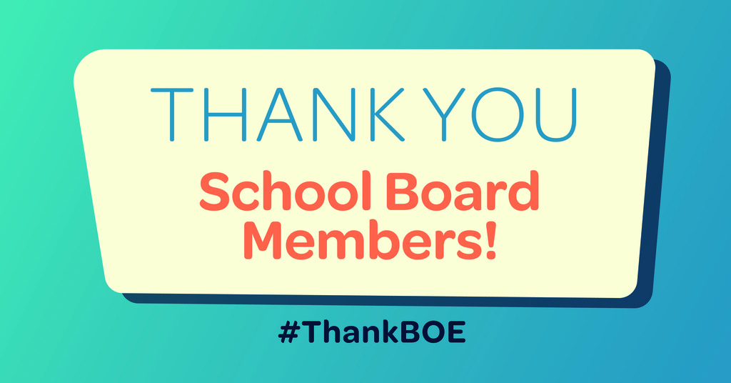 Kansas Association of School Board's Appreciation Month is January.  Thank you to our board members!