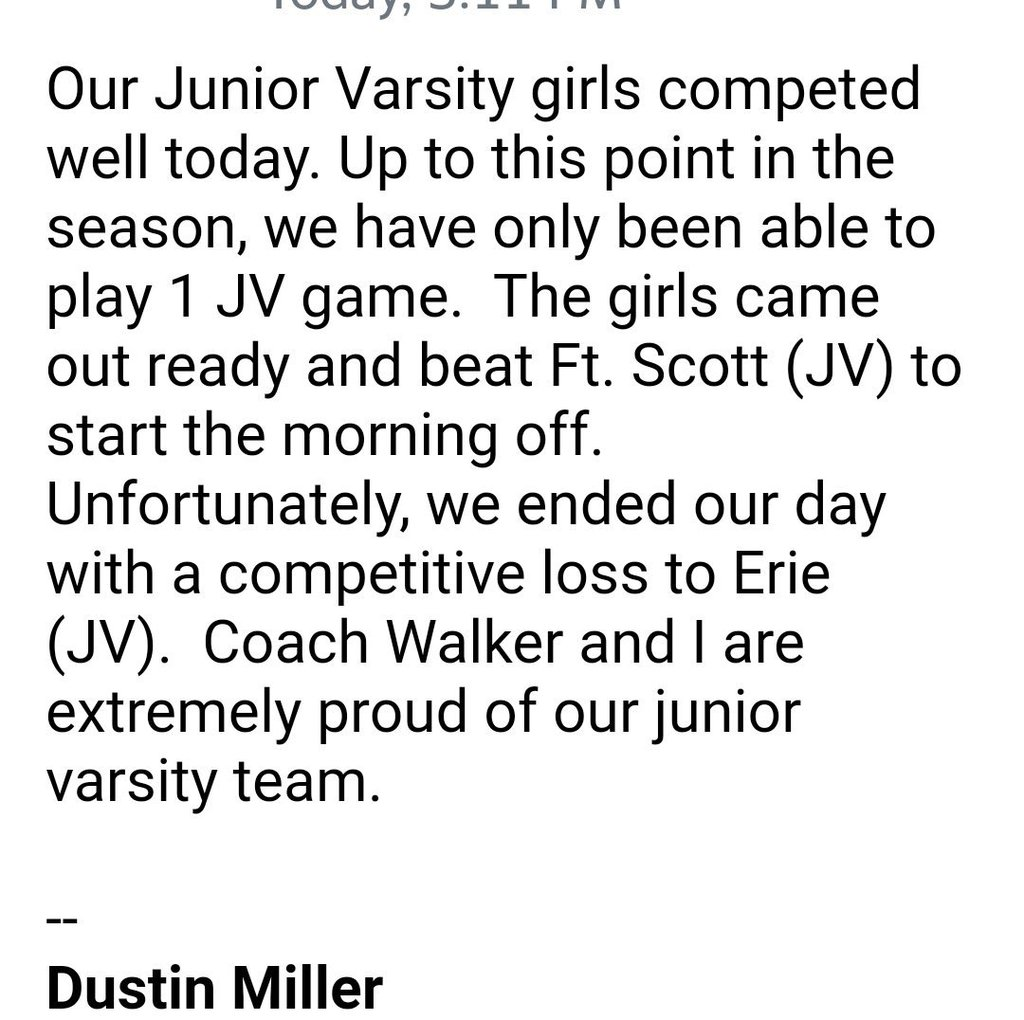 Quote from Head HIgh School Girls Basketball Coach Dustin Miller