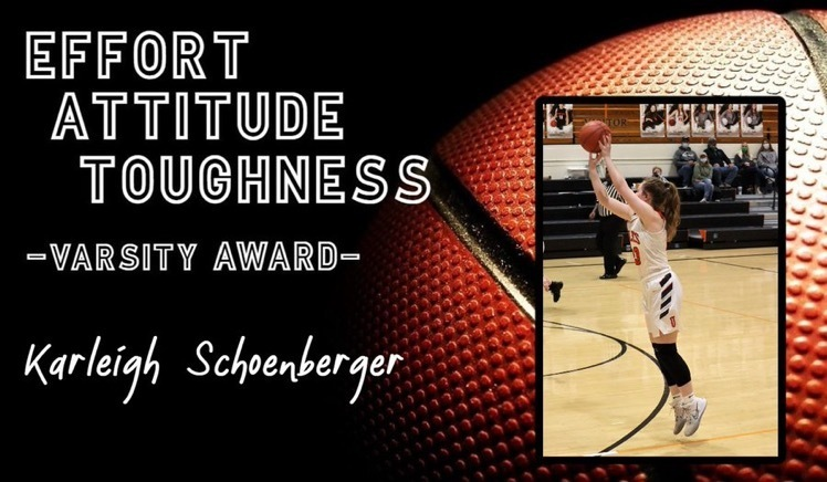 Picture of Karleigh Schoenberger for Uniontown High School Girls Basketball Player of the Week.