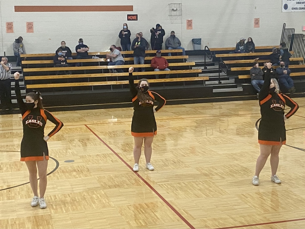 Uniontown Eagles Cheerleaders performing  at Marmaton Valley