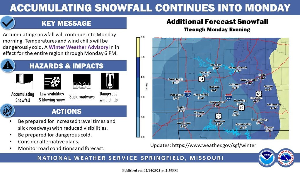 Info graphic released by National Weather Service-Springfield, Missouri Office.  - https://www.weather.gov/sgf/