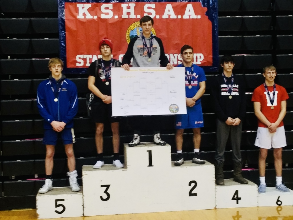 State Champion Bryce  Eck at 152lbs 3-2-1A