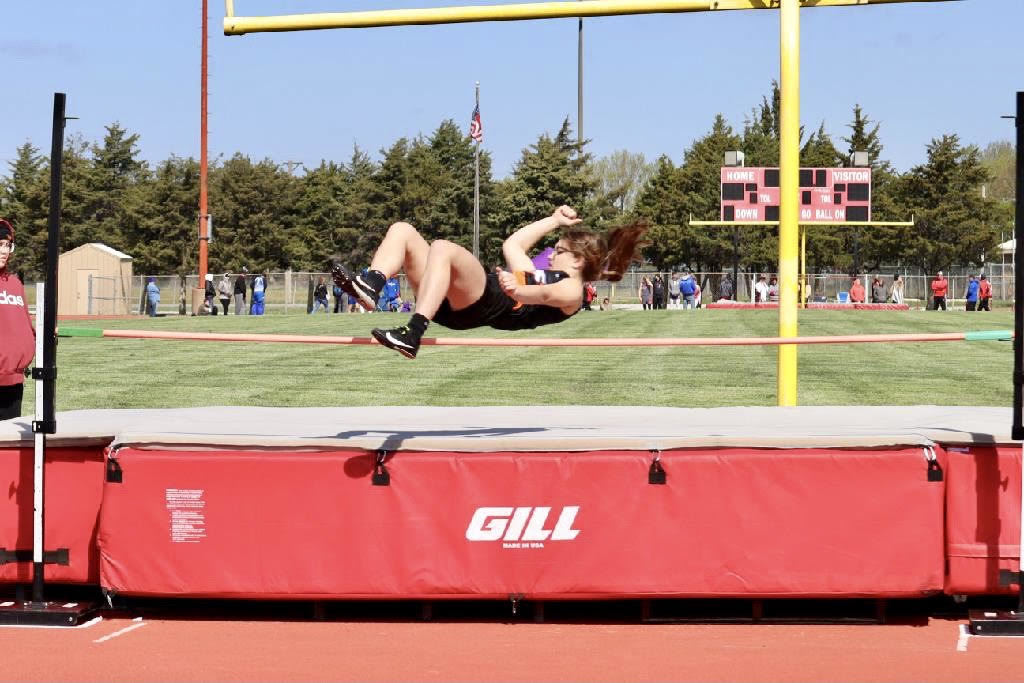 Brooklynn Dreisbach competing in the High Jump