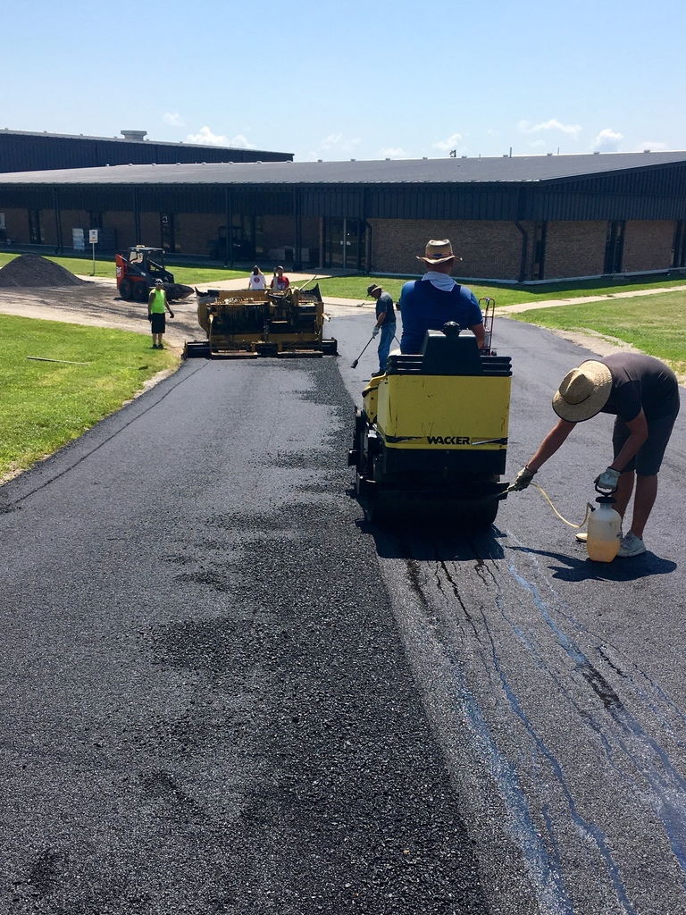 Asphalt overlay going down in WBE drive