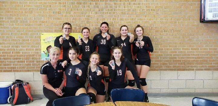 UHS JV Volleyball Girls. 2nd Place at Marmaton Valley Tournament
