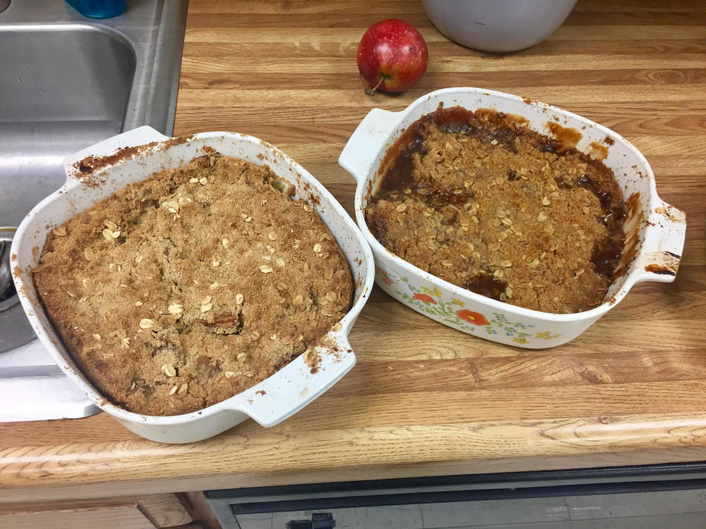 Apple Crisp made by 7th Grade Life Skills Class.
