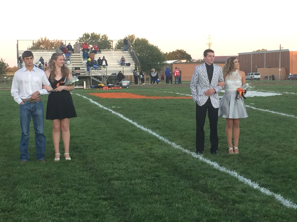 Two Homecoming King and Queen Candidates.