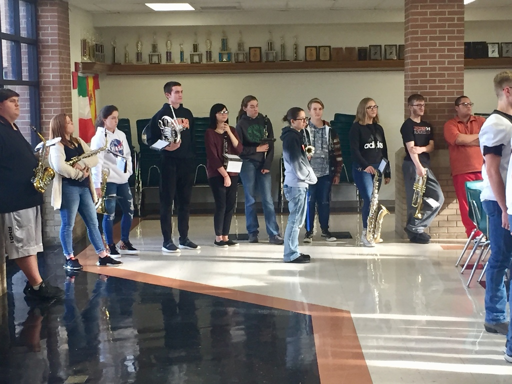 HS Band played for sendoff