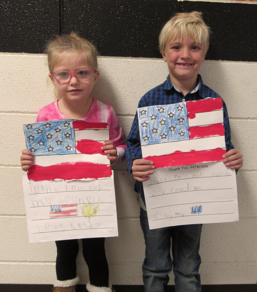 Flag posters created by students
