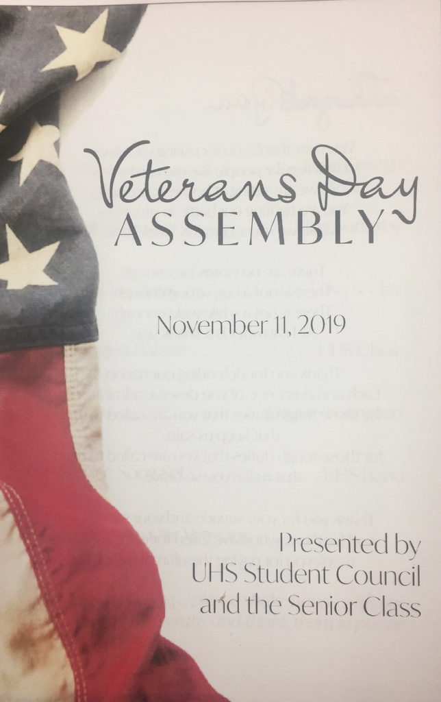 Picture of Veterans Day Program