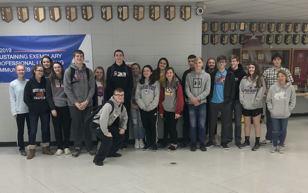 Uniontown HS students who competed in Math Contest in Warrensburg, Missouri.