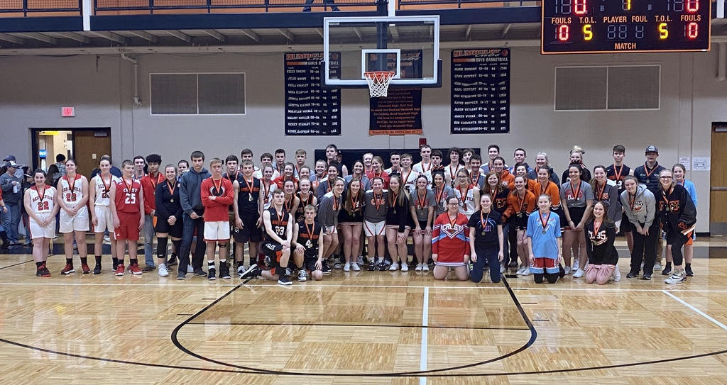 Picture of all students honored on All-Academic Team