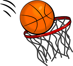 Basketball and Goal Clip Art