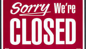 Picture of a Sorry We Are Closed Sign
