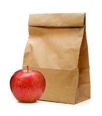 Picture of Sack Lunch and Apple