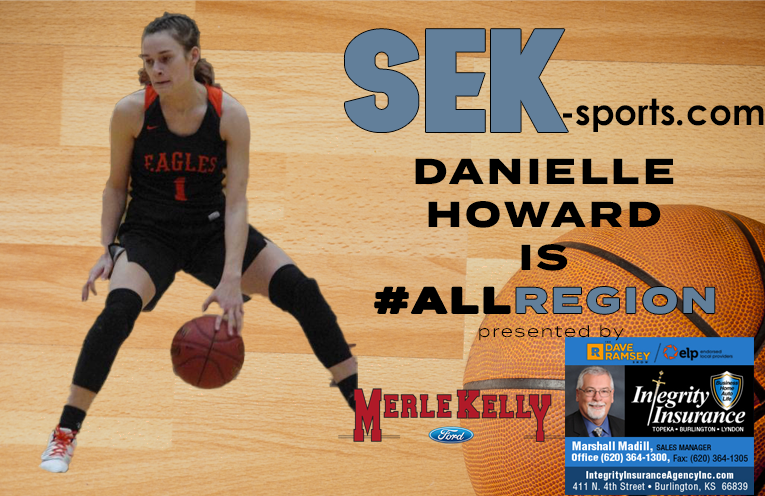 Graphic made by SEK-Sports.com of Danielle Howard for 1st Team All-Region Team