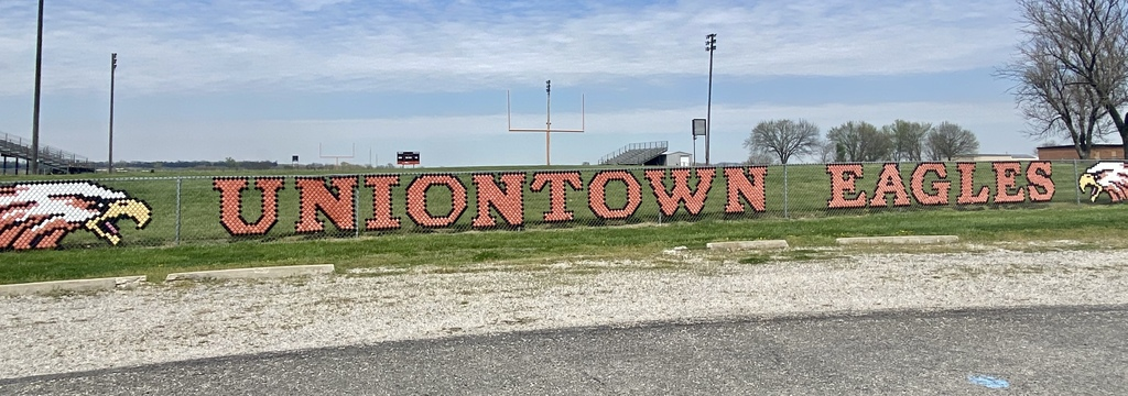 Uniontown Eagles fence decoration at Football Field