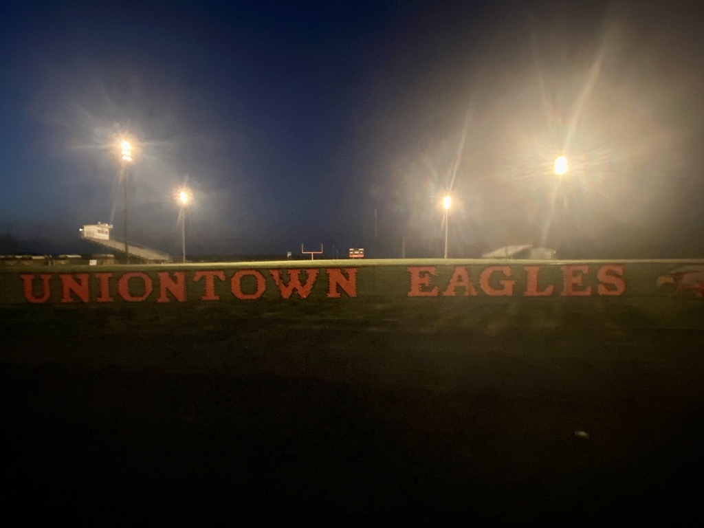 HS Football Field lit up at night picture