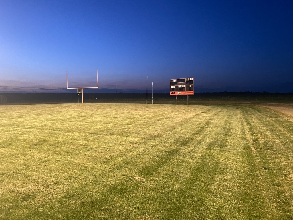 "HS Football Field during the ""Be the Light"" campaign"