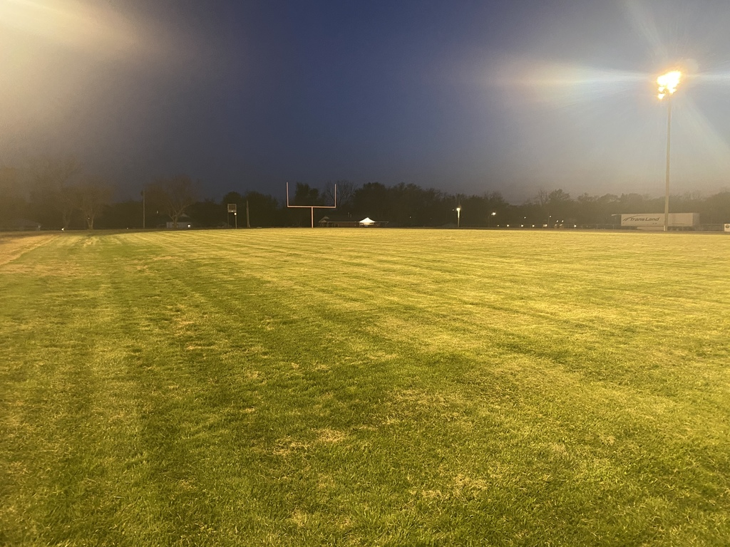 HS Football Field under the lights on Friday night