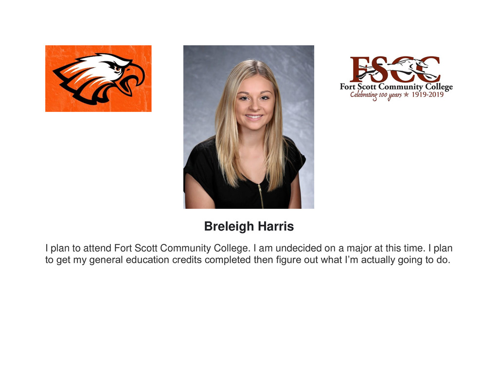 Senior Recognition photo of Breleigh Harris