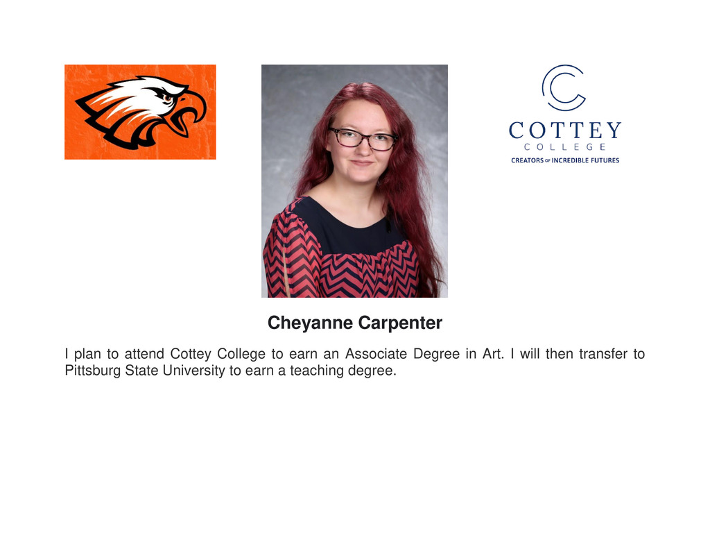 Senior Recognition photo of Cheyanne Carpenter