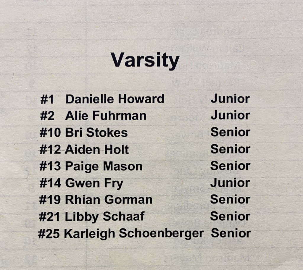 Eagles HS Varsity Volleyball Roster