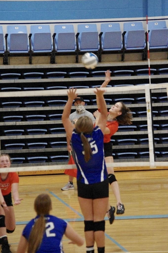 Picture of Rhiann Gorman for a spike against Yates Center